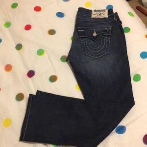 True religion straight jeans size 26 Swarovski!